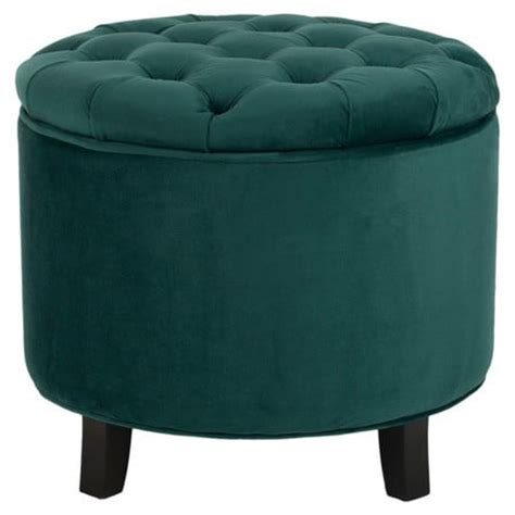 teal tufted ottoman poufs and ottomans for every style and price range
