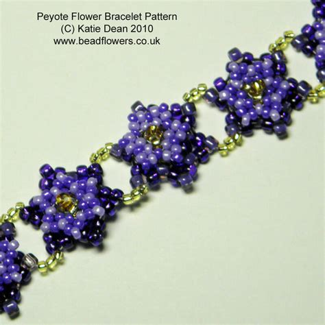 flower bead bracelet pattern peyote flower bracelet pattern dean beadflowers