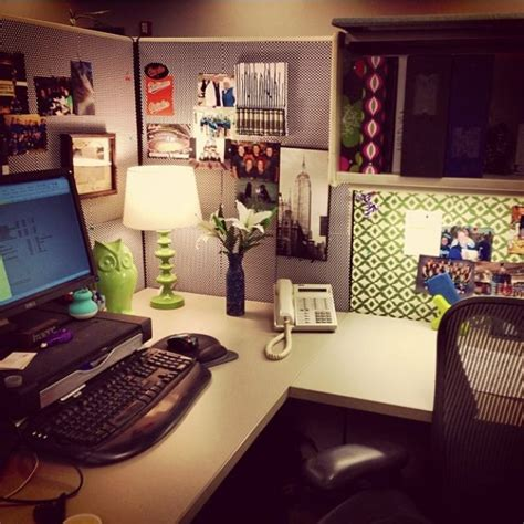 desk decorations for work cubicle decor i like the desk l plant wallpaper and the owl my cubicle