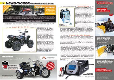 Motorrad Von Deutschland Nach Sterreich Importieren by Atv Quad Magazin 2010 09 10 Atv Quad Magazin
