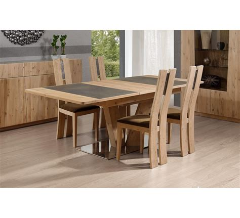 table salle a manger ceramique 7 table pied central carr233 ou rectangulaire en ch234ne et