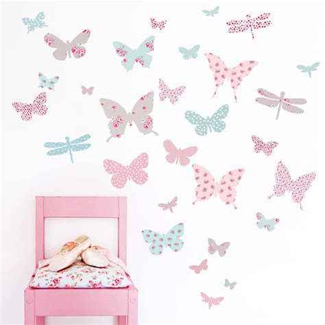 Large Childrens Wall Stickers children s butterfly fabric wall stickers by koko kids