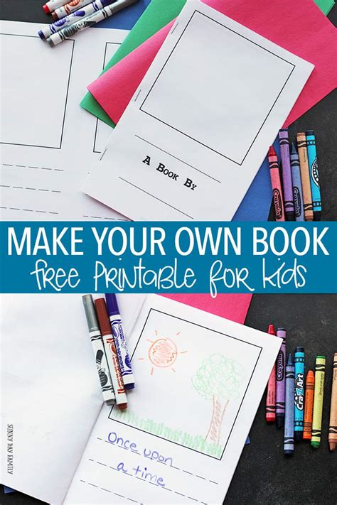 how to make your own picture book make your own book for free printable day