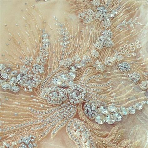 haute couture beading tambour beading on a haute couture crystals