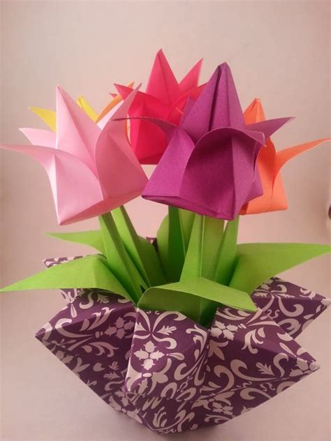origami flower pot 4778 best origami images on