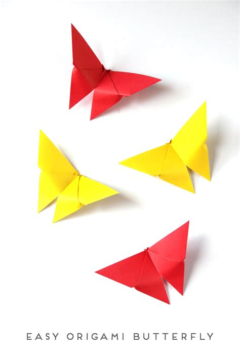 simple origami easy origami butterfly craftbnb