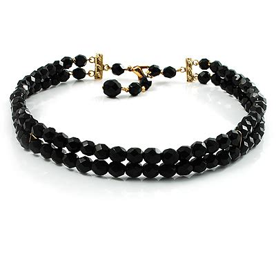 beaded chokers black beaded choker necklace images