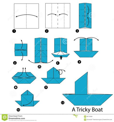 how to make a origami boat step by step step by step how to make origami a tricky