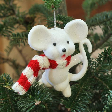 mice decorations set of two mice tree decorations by ella