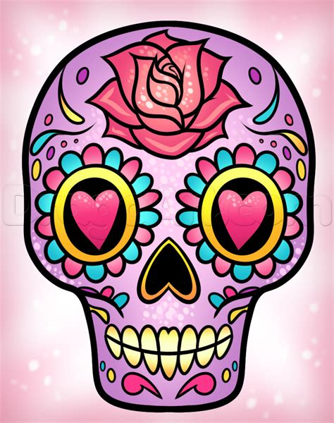 for sugar skull how to draw a sugar skull easy step by step skulls pop
