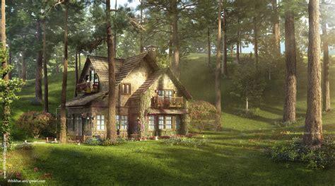 cottage up the firefly cottage 3dsmax vray study cottage