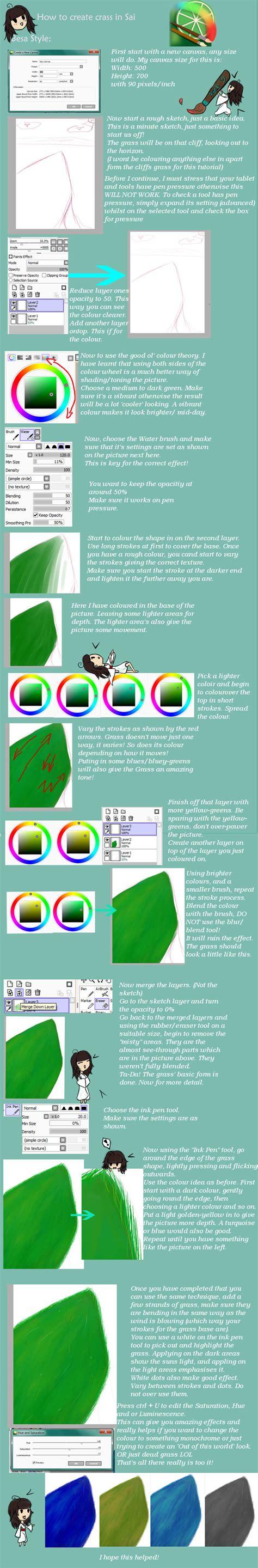 paint tool sai grass paint tool sai grass tutorial by besachan on deviantart