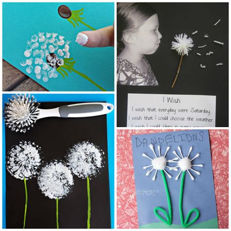 arts and craft for pretty dandelion craft ideas