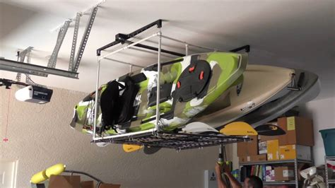 Garage Storage Kayak Garage Kayak Hoist Storage Solution