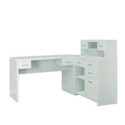 white desk l shaped monarch specialties hollow l shaped home office desk