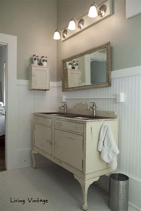 vintage bathroom vanity creative diy bathroom vanity projects the budget decorator