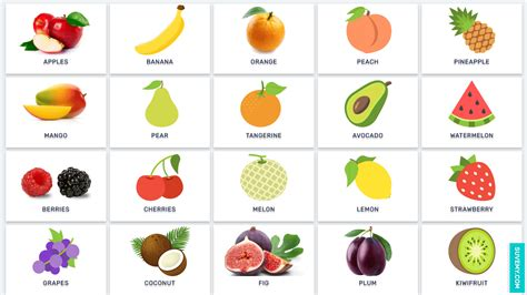 fruits for fruits in vocabulary in list with images 183 suvemy
