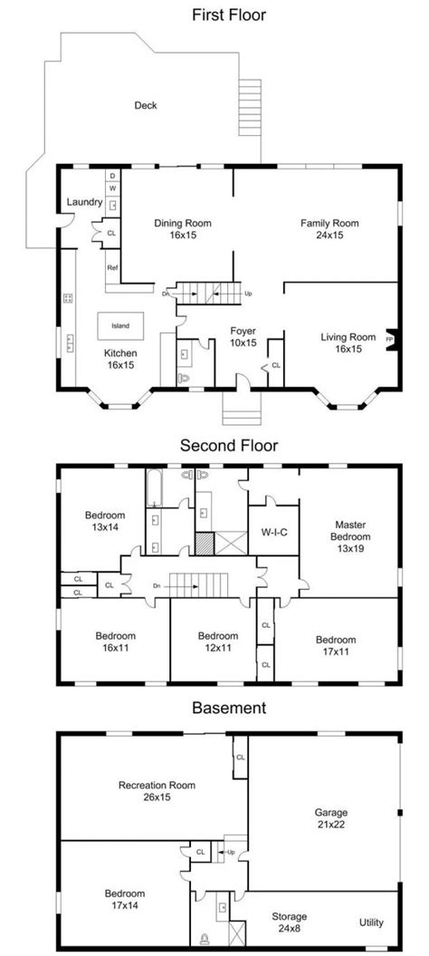 center hall colonial floor plans center hall colonial