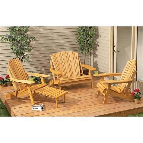 adirondack patio furniture sets codeartmedia adirondack patio set crescent