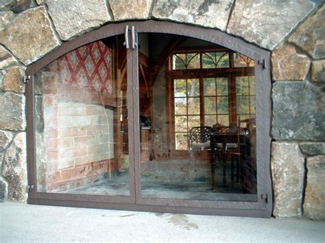 glass fireplace screens with doors fireplace screen with glass doors pleasant hearth