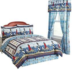 lighthouse comforter sets collections etc nautical bar harbor lighthouse comforter