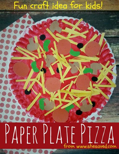 craft projects for kindergarten paper plate pizza craft idea shesaved 174