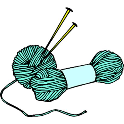 knitting clip pics of needles clipart best