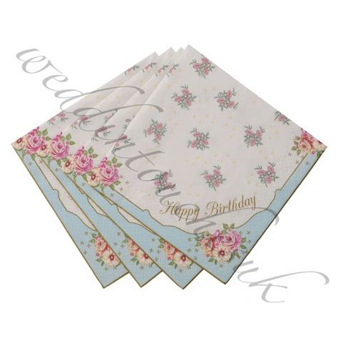 shabby chic napkins luxury paper napkins vintage style tea accessories