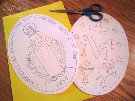 catholic crafts for miraculous medal craft for catholic re craft ideas
