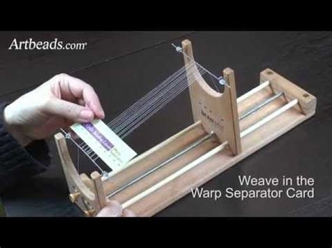 how to set up a bead loom the ricks beading loom how to set up the warp threads