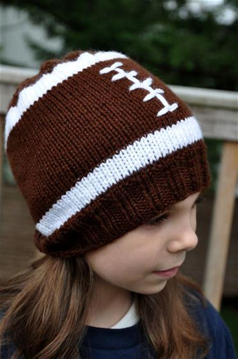 football knitting pattern football hat knitting patterns and crochet patterns from