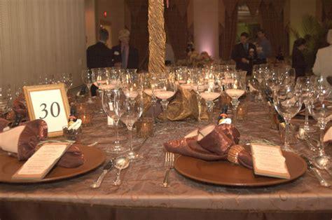 copper decorations copper color scheme wedding table decorations