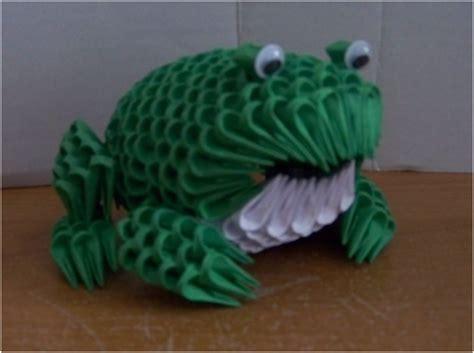 3d origami frog 3d origami frog by bloodshard on deviantart