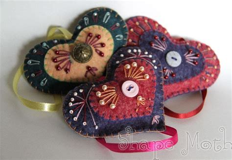 embroidered decorations shape moth embroidered ornaments and quilted