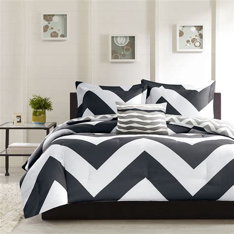 black white and blue comforter sets beautiful modern reversible black grey white stripe sport