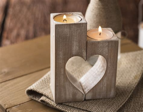 candle holders wooden candle holders rustic candle holders wood hearts