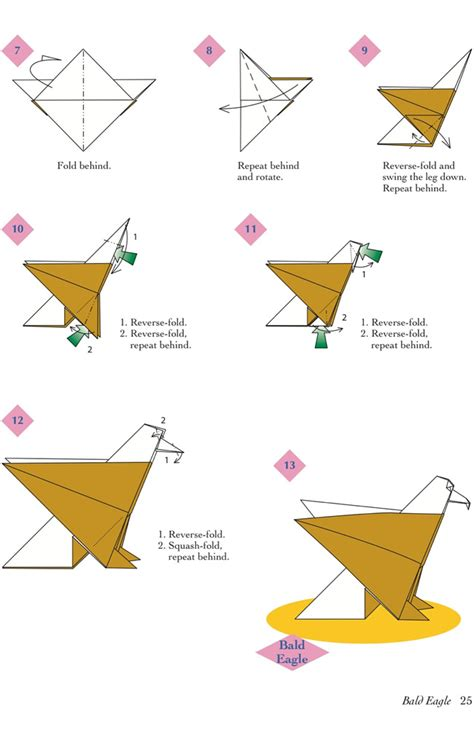 easy origami eagle easy origami animals page 6 of 6 bald eagle 2 of 2