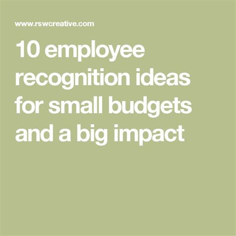 ideas for staff 25 unique employee recognition ideas on