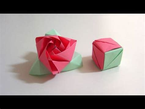 origami magic easy how to fold origami magic cube paper craft flower