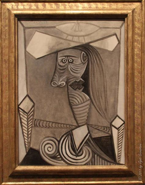 picasso paintings at lacma bust of a seated maar 1938