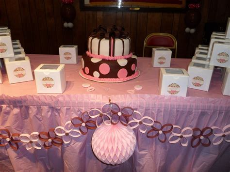 Pink And Brown Baby Shower Decorations   Best Baby Decoration
