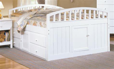 white captains bed homelegance size captain bed white finish 826f