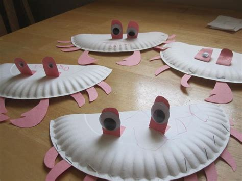 crab paper plate craft paper plate crab