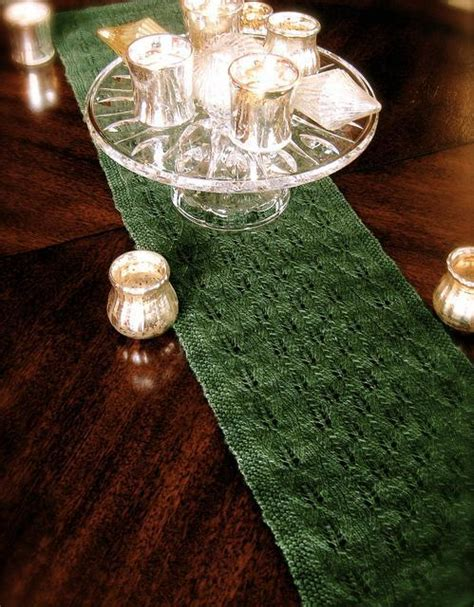 free knitted table runner patterns lace knitting stitches great patterns for each