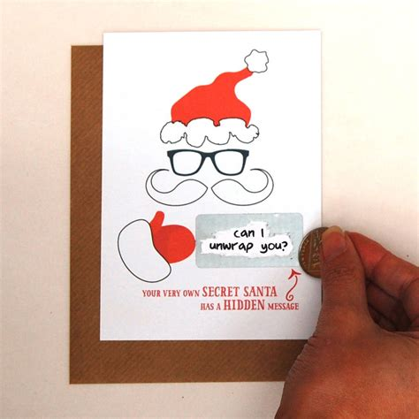 how to make a secret message card write your own message secret santa card by