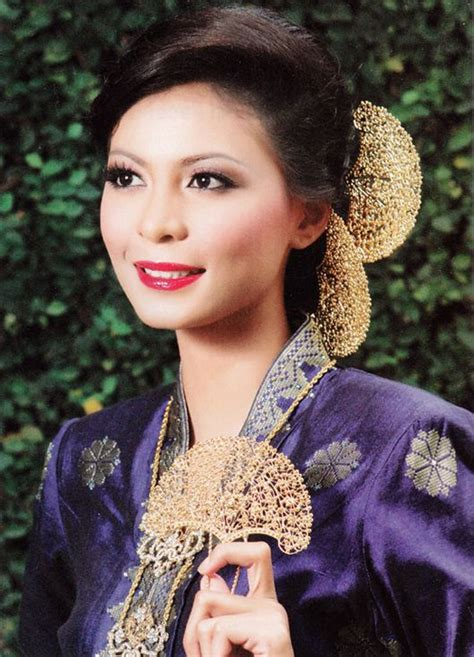 traditional malay hairstyles malay wedding pinterest