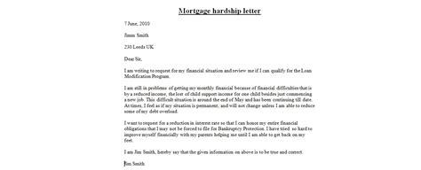 Modification Letter by Loan Modification Hardship Letter Crna Cover Letter