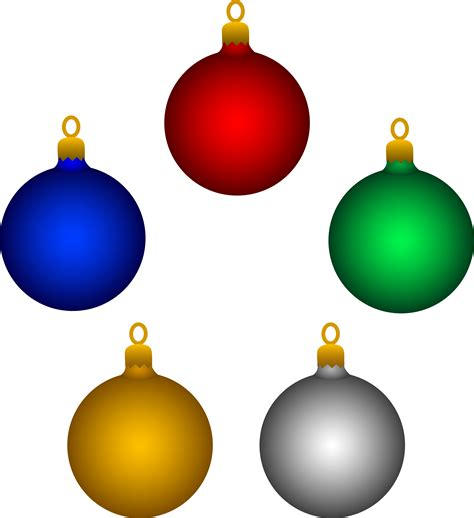 free ornament clipart five shiny tree ornaments free clip