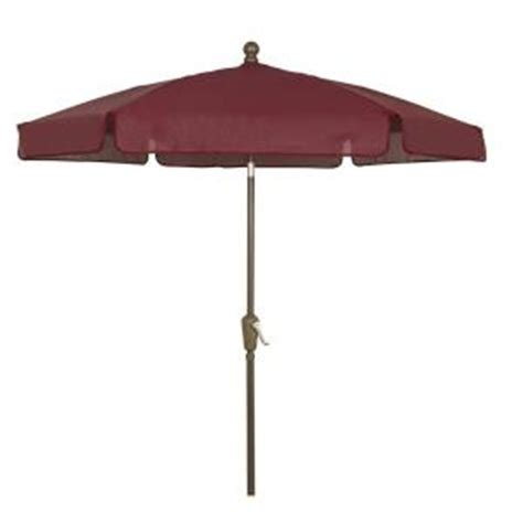 home depot patio umbrellas fiberbuilt umbrellas 7 5 ft patio umbrella in burgundy
