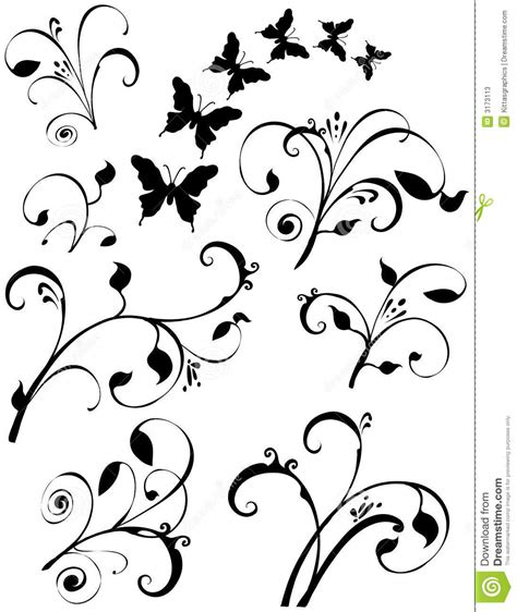 butterflies floral leaf art stock photos image 3173113
